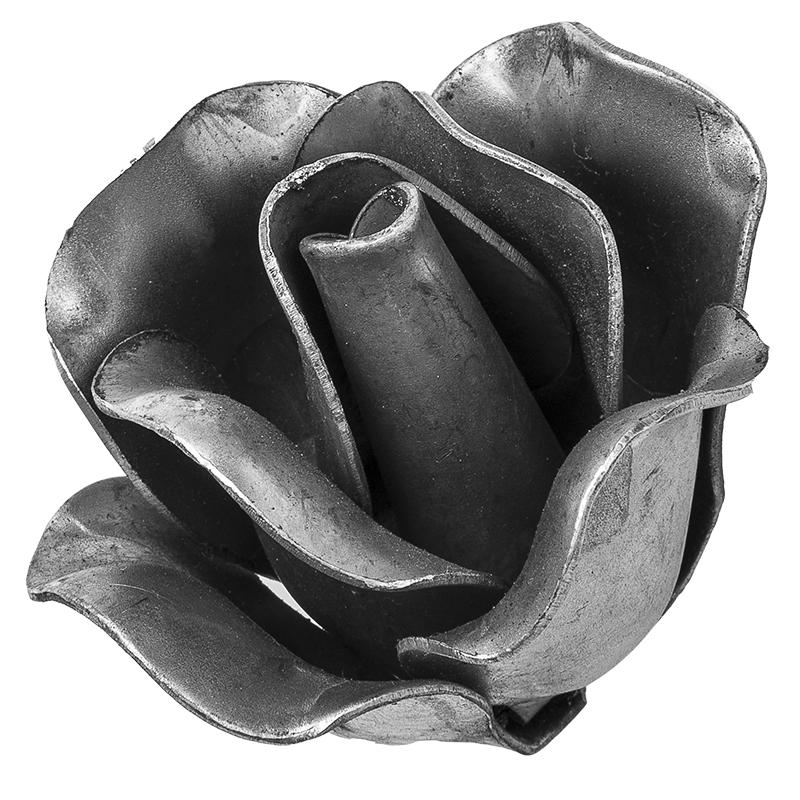 Zierrosette Zierornament Motiv Deko Rose für Kunstschmiede Schmiedeeisen 016.02