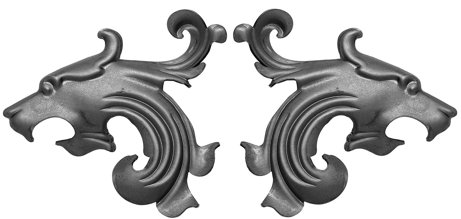 Zaunelement Schmiedeeisen Tore Zaunornament Ornament Zaunbau 014 Kunstschmiede