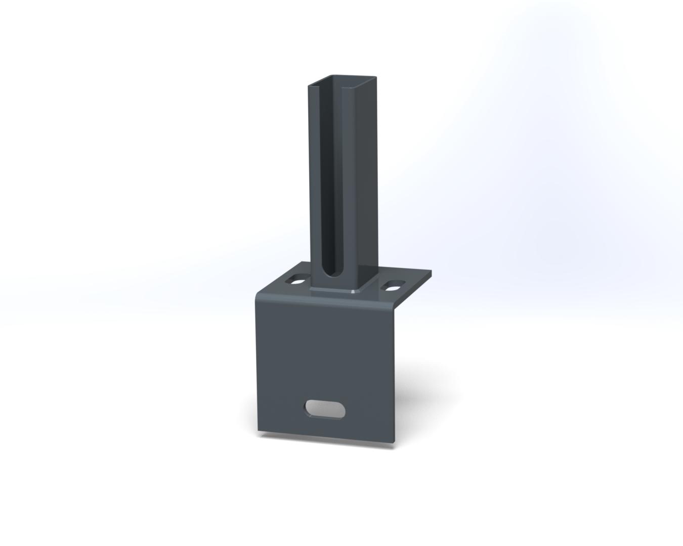 Bodenplatte Fußplatte Adapter anthrazit doppelstabmattenzaun Zaunpfosten Zubehör