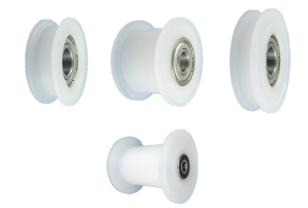 profil kunststoff rollen mit kugellager laufrolle f hrungsrolle 29 90 mm ebay. Black Bedroom Furniture Sets. Home Design Ideas